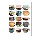 YuanMinglu Nordische Dekoration Pop Art Poster frische schöne Mädchen Leinwand Farbe Tasse...