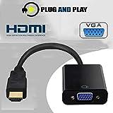 HDMI zu VGA, High-Speed 1080P/720P Active HDMI zu VGA Adapter Konverter Stecker auf Buchse für PC,...