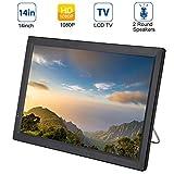 14 Zoll Tragbarer DVB-T/T2 Fernseher, 1280x800 HD TFT LCD Bildschirm Mini TV Mediaplayer mit...