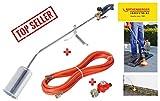 ROTHENBERGER Industrial Anwärm Brenner RoMaxi Eco inkl. 5m Propan Gas Schlauch & Druck regler,...