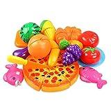 FEDSJUIHYG Wiedergabe Schneiden Speisen Kitchen Toys Fun Gemüse Mit Pizza Spielen Für Kinder...