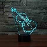 Violine Nachtlicht 3D 7 Farbe Kinder Gitarre LED Licht Nachtlicht Geschenk Spielzeug Kinderzimmer...