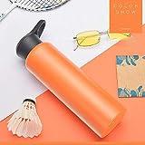 HZI Vakuum-Isolierte Edelstahl Trinkflasche Isolierflasche, BPA-frei Wasserflasche mit Filter -...