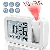 Projektionswecker, TedGem Reisewecker Digitaler Wecker Tischuhr 3,8'LCD Anzeige, Groe Anzahl, 4...