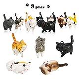 Phogary 9 STÜCKE Realistische Katzenfiguren, Lehrreich Kitty Figuren Spielzeug-Set, Kätzchen...