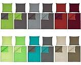 optidream Baumwolle Renforcè Bettwäsche Uni Wende in 2 Größen und 9 Modernen Farbenkombinationen...