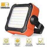 LED Arbeitsleuchte Akku,Campinglampe LED USB Wiederaufladbare Tragbar Outdoor Flutlicht mit 10000mAh...