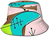 Boomerang Space Age Unisex Fashion Print Bucket Hat Summer Fisherman Cap Packable Outdoor Sun Hat -...