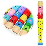 Keepdrum Flte aus Holz Musik-Spielzeug fr Kinder Gelb