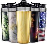 UShaker Personalisierte Sport-Wasserflasche – Vakuum-isolierte Edelstahl-Sportflasche doppelwandig...