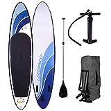 SUP Board Stand up Paddling Surfboard Glider 300x76x15cm aufblasbar Alu-Paddel Hochdruck-Pumpe...