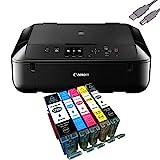 Canon Pixma MG5750 Multifunktionsgerät Schwarz Mit USB Kabel Und 5 YouPrint Tintenpatronen...