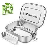 Bess Auslaufsicher Edelstahl Brotdose | Umweltfreundliche Brotdose ohne Plastik&BPA | Die...