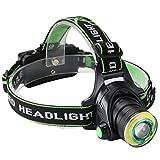 SHISOU LED Stirnlampe USB, Super Bright LED Scheinwerfer 5000 Lumen 4 Modi Geeignet Für Camping,...