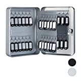 Relaxdays Schlüsselkasten Metall, abschließbar, 48 Haken, Schlüsselschrank inkl....