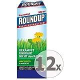 Gardopia Sparpaket: Roundup Rasen-Unkrautfrei Konzentrat Unkrautvernichter, 12 x 500 ml +...