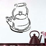 Tianpengyuanshuai Große Aufkleber Tee Zeit teekanne Vinyl Fliesen wandaufkleber küche wandtattoo...