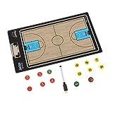 perfeclan Fussball Taktiktafel Coach-Board mit Stift und Ersatz Magnete - Basketball