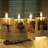 WSYYWD Foto Clip LED Lichterkette Dekoration für Hochzeitsfeiertage Weihnachtsgirlande Raum...