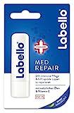Labello Med Repair im 4er Pack (4 x 4,8 g), Lippenpflegestift mit Sonnenschutz (LSF 15) und Vitamin...