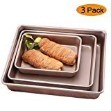 Chlggzw Backen Non Stick Bratblech Set, professionelle Backblech Pfanne groß, Backformen,...