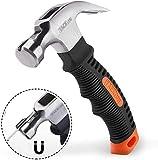 Hammer, TACKLIFE Mini Hammer-HMH2A,ergonomischer Griff mit weichem Gummi,mit magnetischem und...