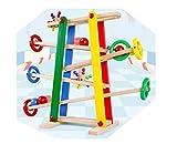 Lalia Kugelbahn aus Holz, Murmelbahn 53x49cm, 2,8kg, Motorik-Spielzeug perfekt für Kleinkinder ab 2...