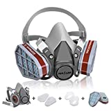 Atemschutzmaske NASUM Schutz Halbmaske für Farbspritz, Staub, Schutz Geruchsminderung für Sprüh-,...