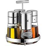 WMF De Luxe Menage-Set 5-teilig, für Salz, Pfeffer, Essig, Öl, Ständer mit 2  Essig-/ Ölspender,...