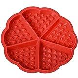 AMOYER Herzbackform Silikon-Muffin-wannen-Formen Kuchen-schokoladen-pan Küchenzubehör