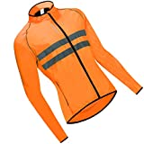 T TOOYFUL Winddichte Fahrrad Langarm Reitjacke Road MTB Bike Sport Top Orange - L