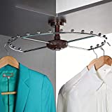 WRJ Kleiderhaken, Kleiderschrank 360 ° Rotation Garderobe Zubehör Einfache Multifunktionale...