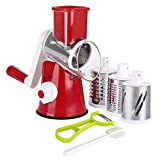 HUJYGT Ourokhome Manual Rotary Cheese Grater-Runde Tumble Box Shredder fr