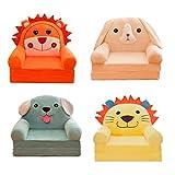 F Fityle 4 Stücke Cartoon Sessel Sitz Für Kinder Cartoon Sofa Abdeckung Multifunktionale Baby Sofa...
