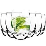 Krosno Wasserglser Saftglser Trinkglser | Set von 6 | 360 ML | Elite Kollektion | Perfekt fr zu...