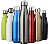 ZUSERIS Thermobecher Doppelwandige Trinkflasche Edelstahl Sportflasche Wasserflasche Camping...