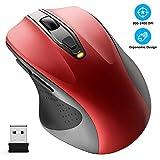 WisFox Kabellose Maus, 2,4 G in voller Größe Kabellose Computermaus ergonomische Maus 6 Tasten...
