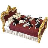 Mini Skulptur - Katzen auf einem Bett - Albert Dubout Katzen #78