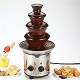 Vier-Schicht-Schokoladen-Brunnen-Maschine 220V Edelstahl-Schokoladen-Wasserfall-Maschine Mini mit...