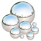 Tiberham Edelstahl Gazing Ball 8 Stck 42-200 mm Spiegelpoliert Hohlkugel Reflektierende Gartenkugel...