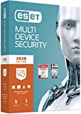 ESET Multi-Device Security 2020   5 Gerte   1 Jahr Virenschutz   Windows (10, 8, 7 und Vista),...