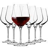 Krosno Große Burgunder Rot-Weingläser | Set von 6 | 860 ML | Splendour Kollektion | Perfekt für...