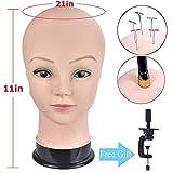 Professioneller Übungskopf für Perücken, für Perücken, Hut und Brille, inkl. kostenloser...