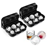 VOGEK Silikon Eiswürfelform Eiskugelform Ice Ball Mould Sphere 100% BPA Frei Eiswürfelschalen...