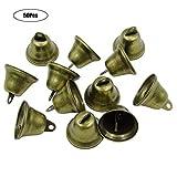 Yinuneronsty 50 Stück 38 mm Vintage Bronze Jingle Bells Weihnachtsglocke