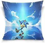 Bigtige Cartoon Sonic Blue World Hedgehog Dekokissenbezüge Dekorative Kissenbezüge Doppelseitiger...