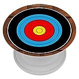 TIZORAX Telefonhalter Dartscheibe auf Holzplatte Erweiterter Stnder und Griff fr Smartphones und...