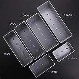 GXMWD Toastboxen aus Aluminiumlegierung Brotlaib Pfanne Backform mit Kuchenform und Deckel, 900 g