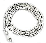 KnSam Pasende Kette Halskette Silber Mädchen Ohne Anhänger Aus Kupfer Versilbert Kette Für Damen...