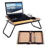COSTWAY Laptoptisch Betttisch Notebooktisch Notebook Laptop Betttablett Arbeitstisch Tisch faltbar...